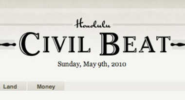 Screen grab of Civil Beat website header