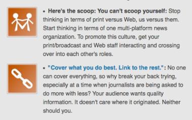 Screengrab showing blog post with orphans corrected.