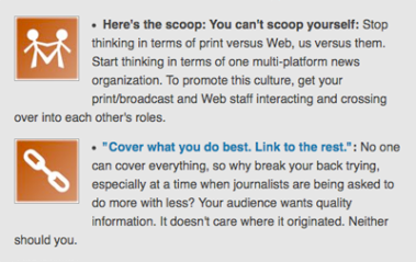 Screengrab of blog post with orphans at the end of list items.