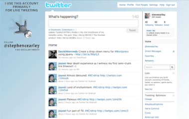 Screengrab of customer Twitter background