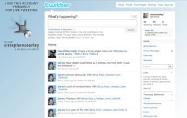Screengrab of customer Twitter background