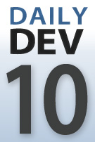 DailyDev blog series logo -- day 10