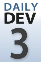 DailyDev blog series thumbnail logo -- day 3