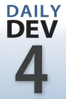 DailyDev series thumbnail logo -- day four