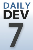 DailyDev blog series thumbnail logo -- day 7