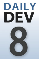 DailyDev blog series logo -- day 8