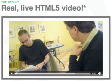 Screengrab of HTML5 video