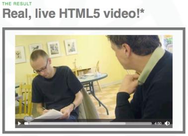 Screengrab of HTML5 video