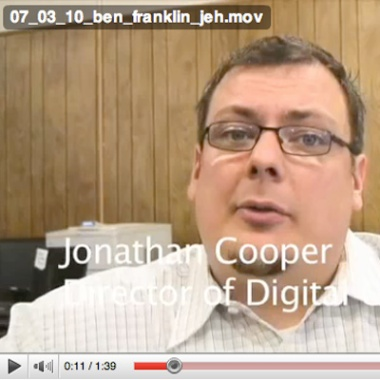 Screengrab of Oneida Dispatch video featuring JRC Director of Digital Content Jonathan Cooper.