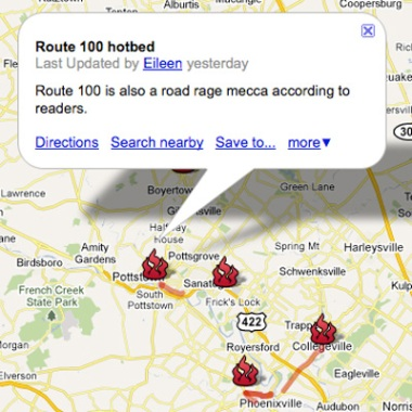 Screengrab of The Mercury road rage map