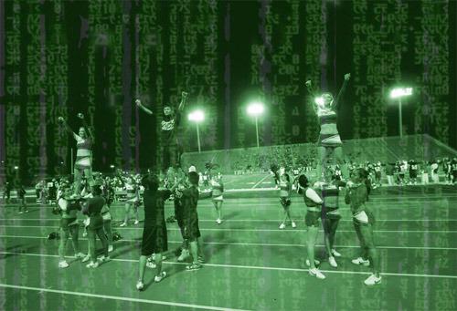 Cheerleader-matrix-illustration