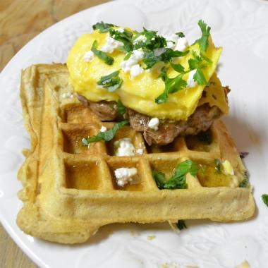 Homemade waffle taco